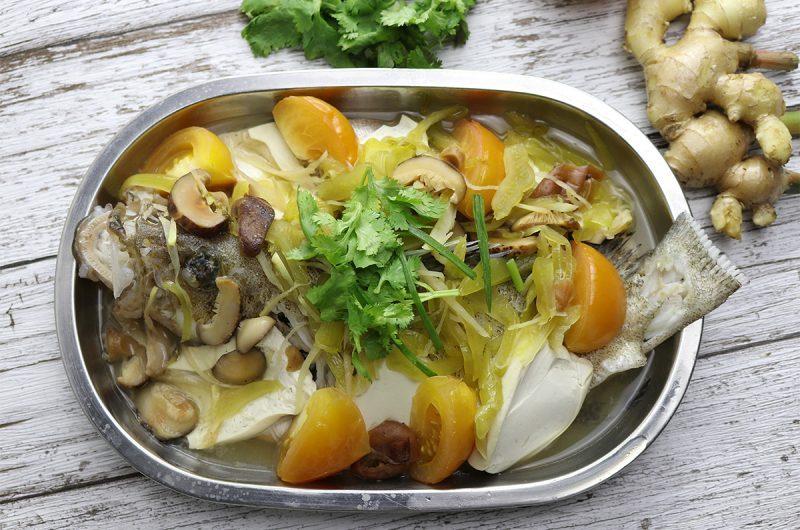 Teochew Steamed Garoupa Fish 潮州蒸石斑鱼