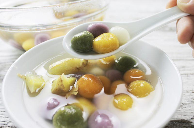 Rainbow Glutinous Rice Balls (Tang Yuan) 彩色汤圆