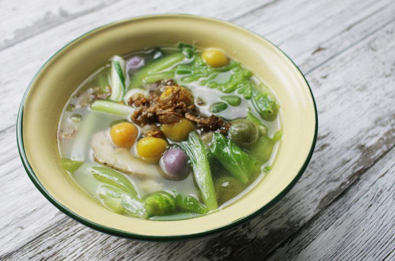 Hakka Salty Rice Balls (Tang Yuan) Soup 客家咸汤圆