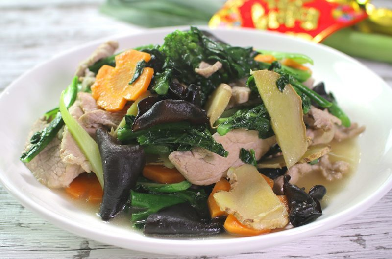 Fried Mix Vegetables with Yellow Wine 黄酒杂菜