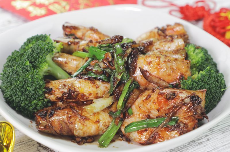 Fried Prawn with Oyster Sauce 蚝油虾