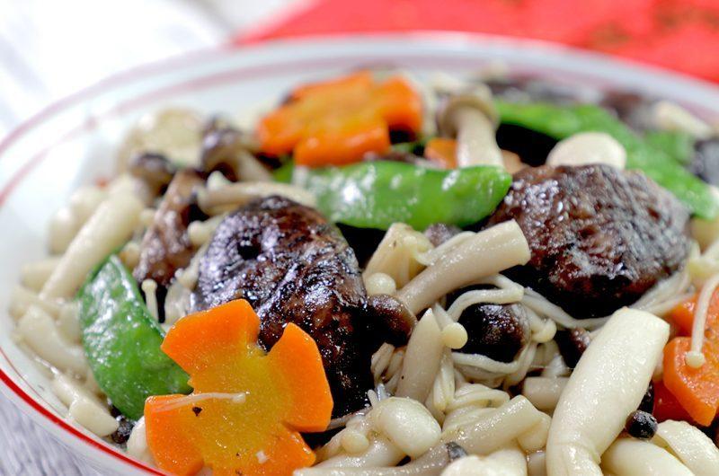 Stir-Fried Mixed Mushrooms (Vegetarian) 炒鲜生杂菇
