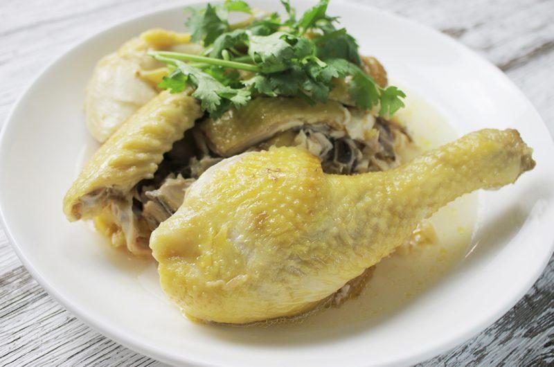 Hakka Steamed Salted Chicken with Rice Wine 客家米酒盐蒸鸡