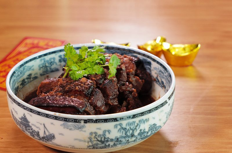 Hakka Braised Pork Belly with Taro 客家芋头扣肉