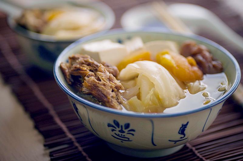 Salted Vegetable & Tofu Soup 烧骨咸菜豆腐汤