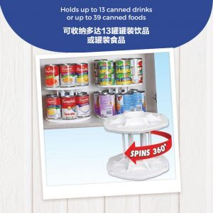 Rotatable Double Layer Canned Food Organizer
